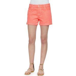 J Brand Kennedy Boyfriend Jean Shorts In Flamingo